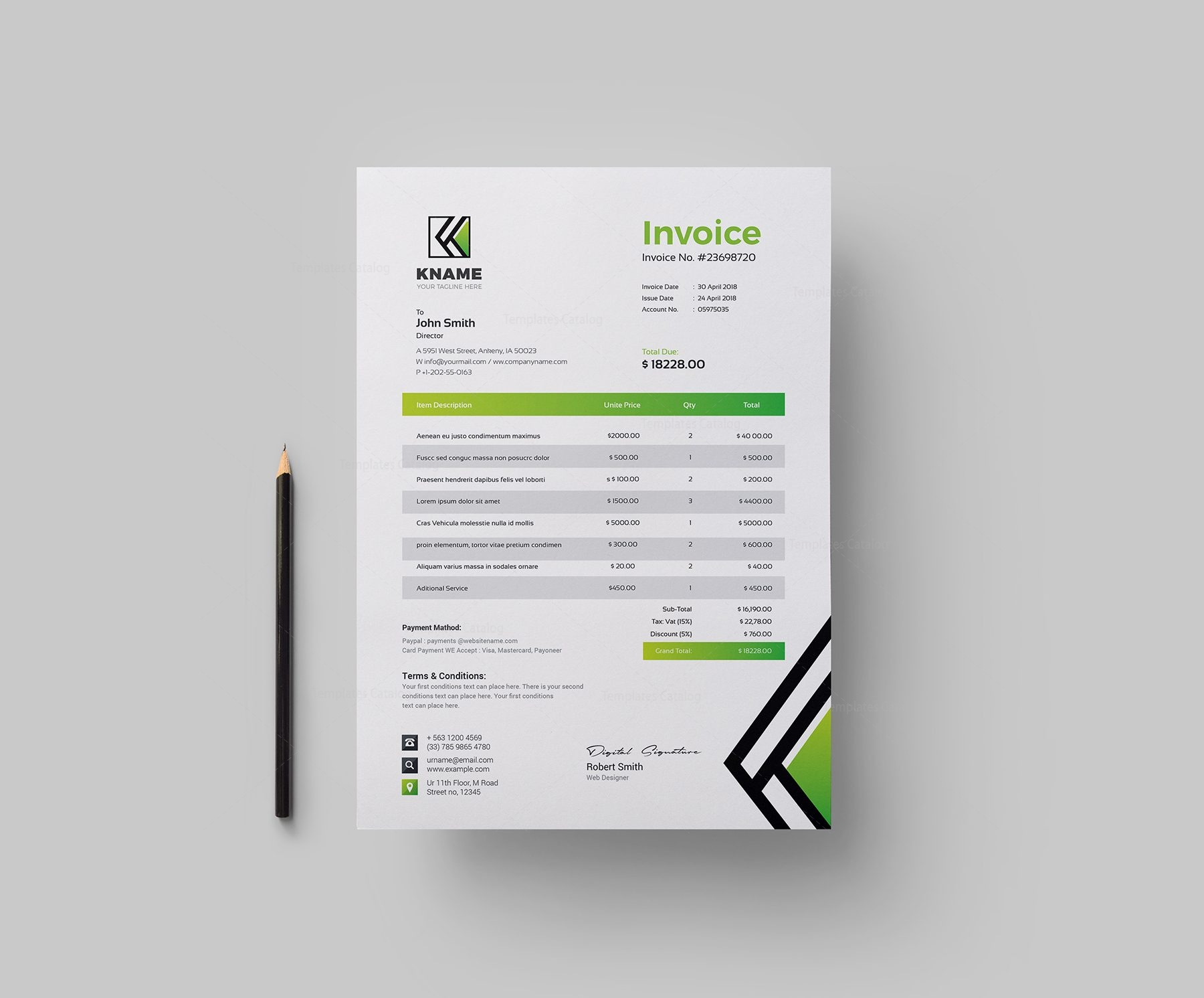Name Creative Invoice Design Template Graphic Templates