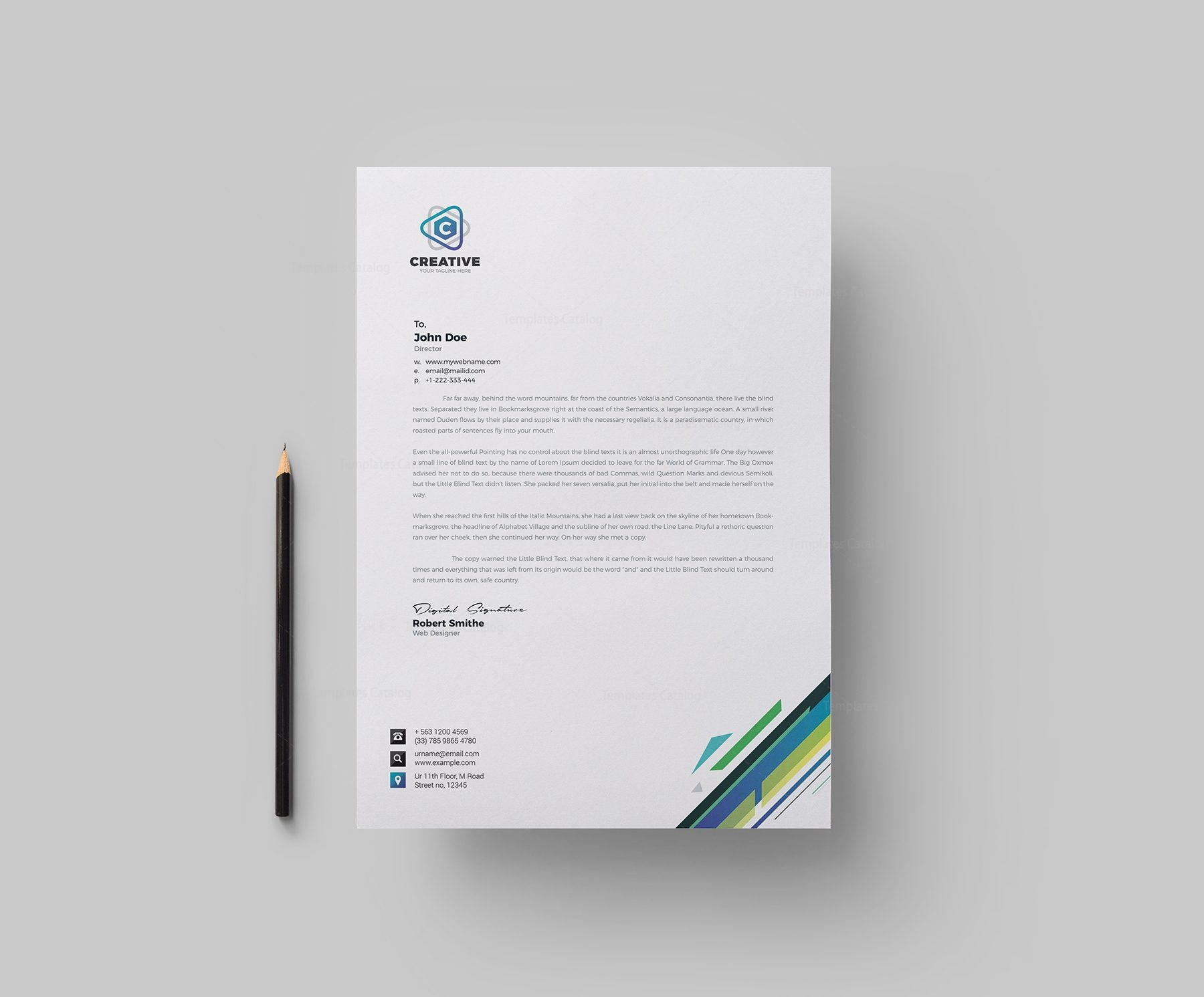 Smart Corporate Letterhead Design Template Graphic Templates