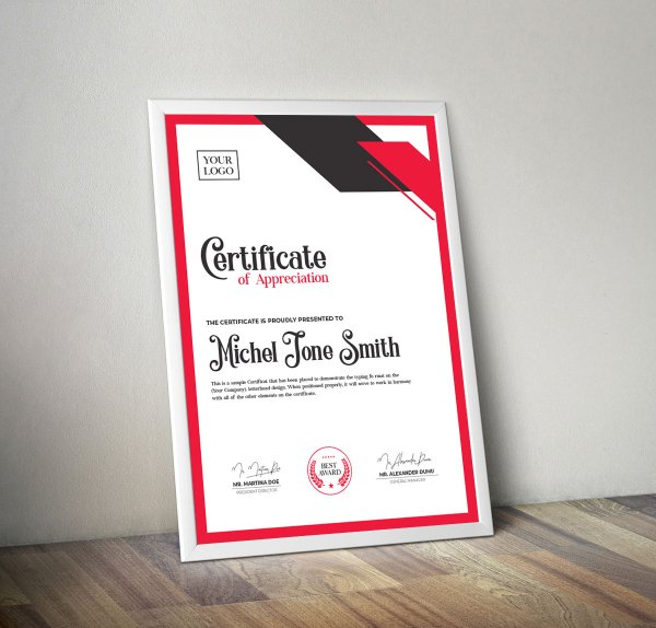 Creative Certificate Design Template