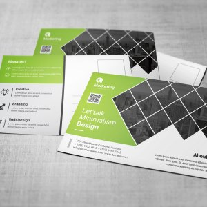 Corporate PSD Postcard Templates