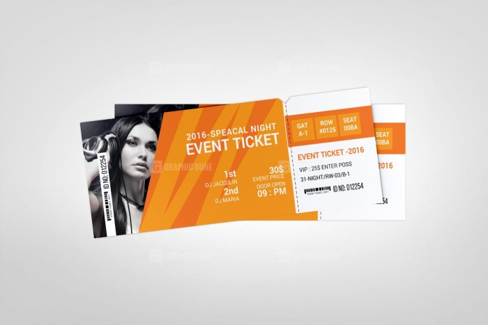 Special Event Ticket Template