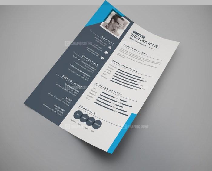 Modern Resume CV Design