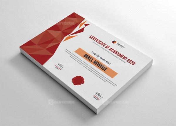 Clean Achievement Certificate