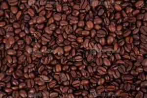 Dark brown coffee beans texture