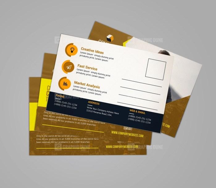 Classy Business Postcard Design