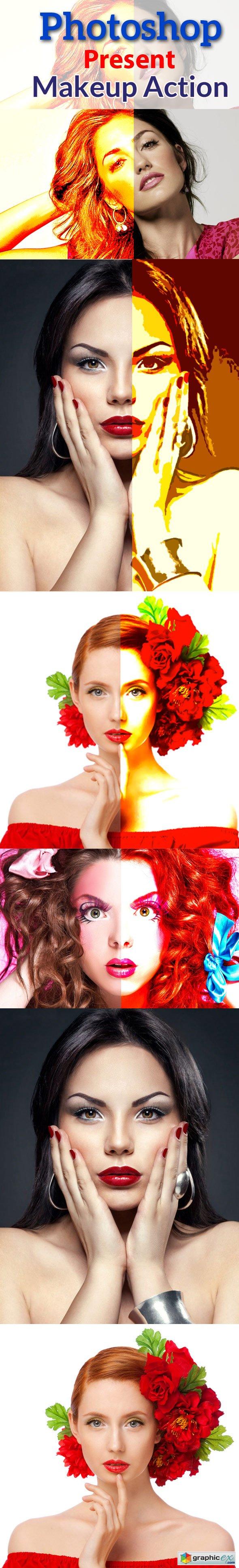 Photoshop Present Makeup Action
