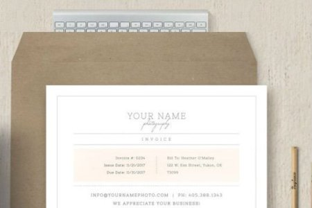 Photographer Invoice Template      Free Download Vector Stock Image     Photographer Invoice Template
