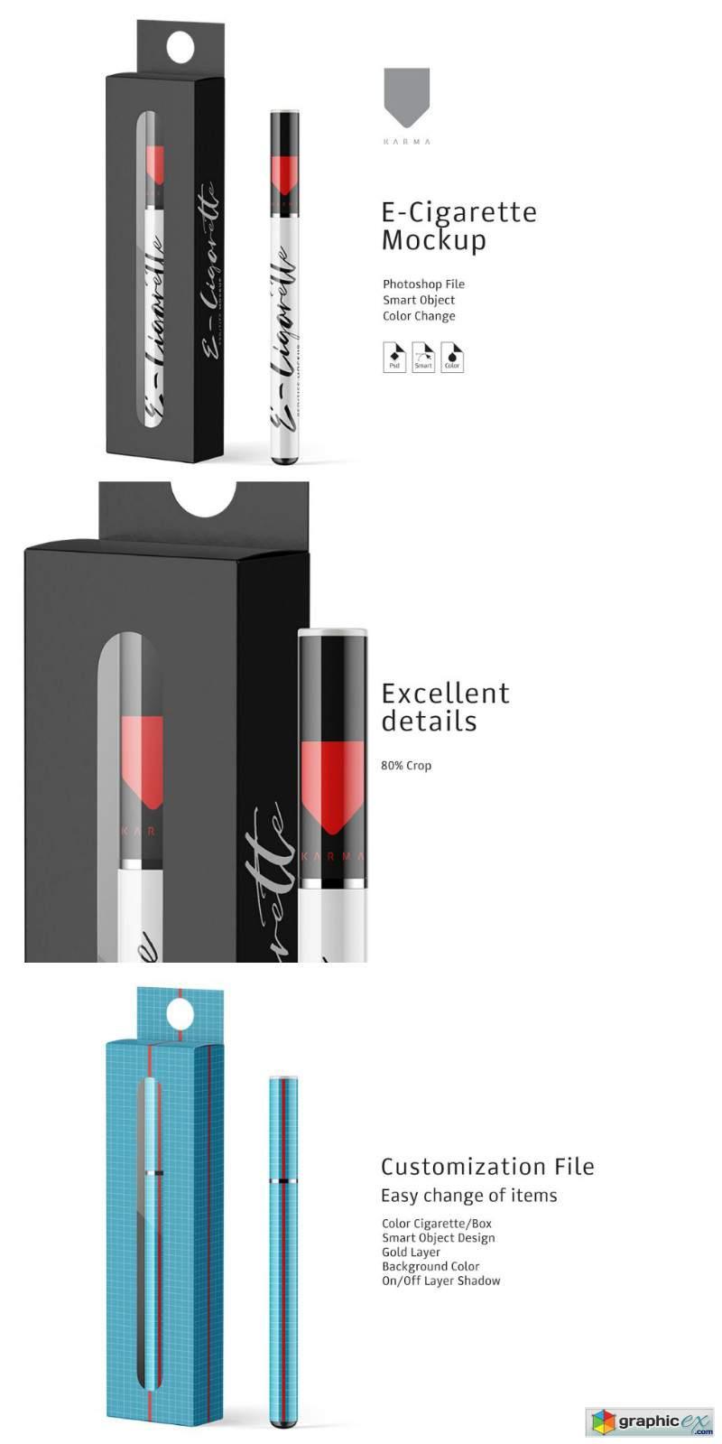 Download E-Cigarette & Box Mockup » Free Download Vector Stock ...