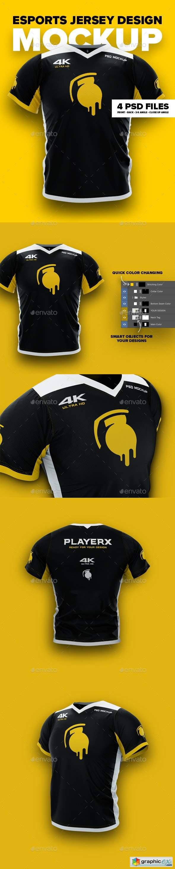 Download 4K Esports Jersey Design Mockup » Free Download Vector ...