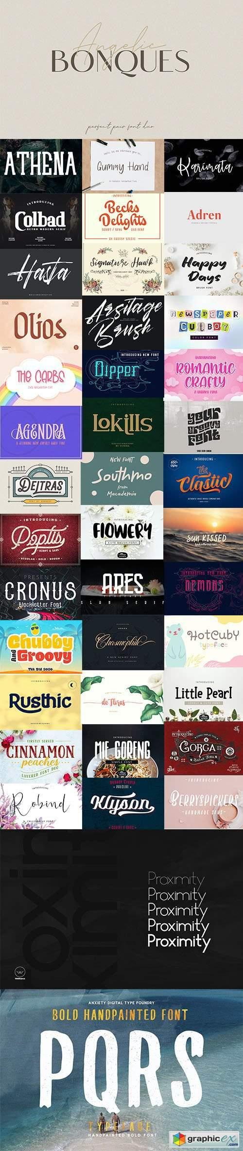 Download Super Fonts Pack Vol.2 Aug/2020 - 42 Fonts » Free ...