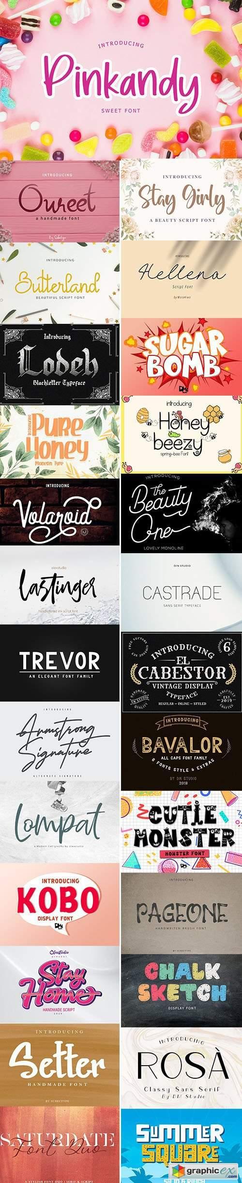 Download Super Fonts Pack Vol.3 Aug/2020 - 27 Fonts » Free ...