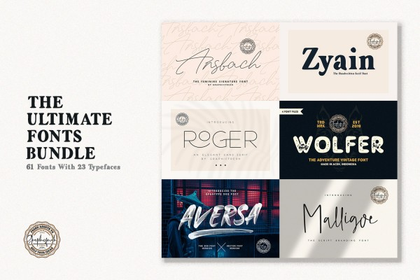 The Ultimate Font Bundle