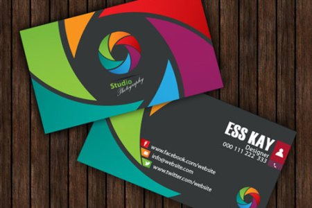 50  Magnificent Free Business Cards Design Templates free studio photography creative business card template