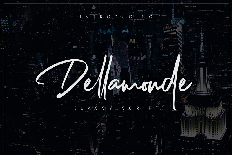 Download Free Dellamonde Classy Signature Script Font Demo ...