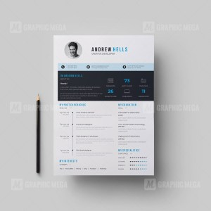 Clean Vector Resume CV Design