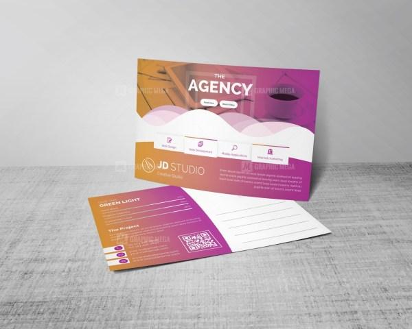 Stylish PSD Business Postcard Templates