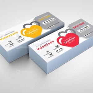 Valentine's Event Ticket Design Template
