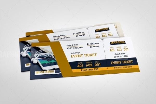 Sleek Event Ticket Design