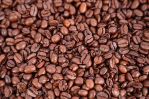 Macro photo of roasted coffee beans