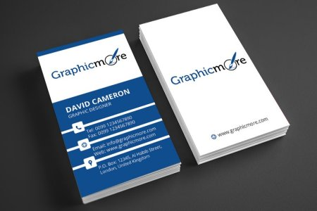 25  Free Vertical Business Card Mockups PSD Templates Corporate Vertical Business Card Template