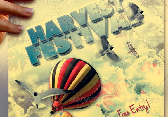 Harvest and Fall Festival Flyer Template