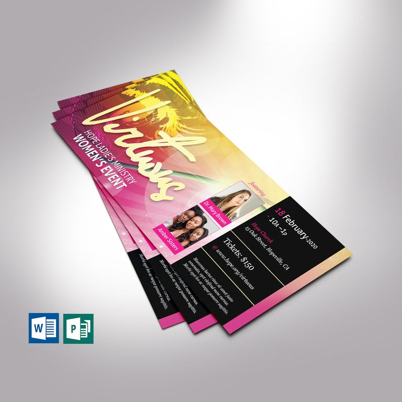 Virtuous Women Flyer Word Publisher Template
