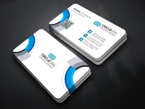 WhiteElegant Business Card Template
