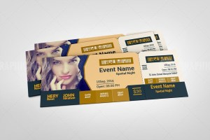 Classy Event Ticket