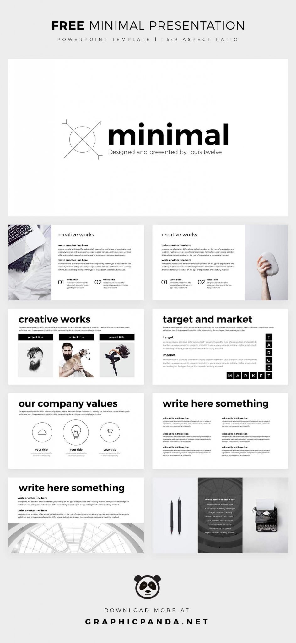 Free minimal powerpoint template create your ppt easy free minimal powerpoint toneelgroepblik Image collections