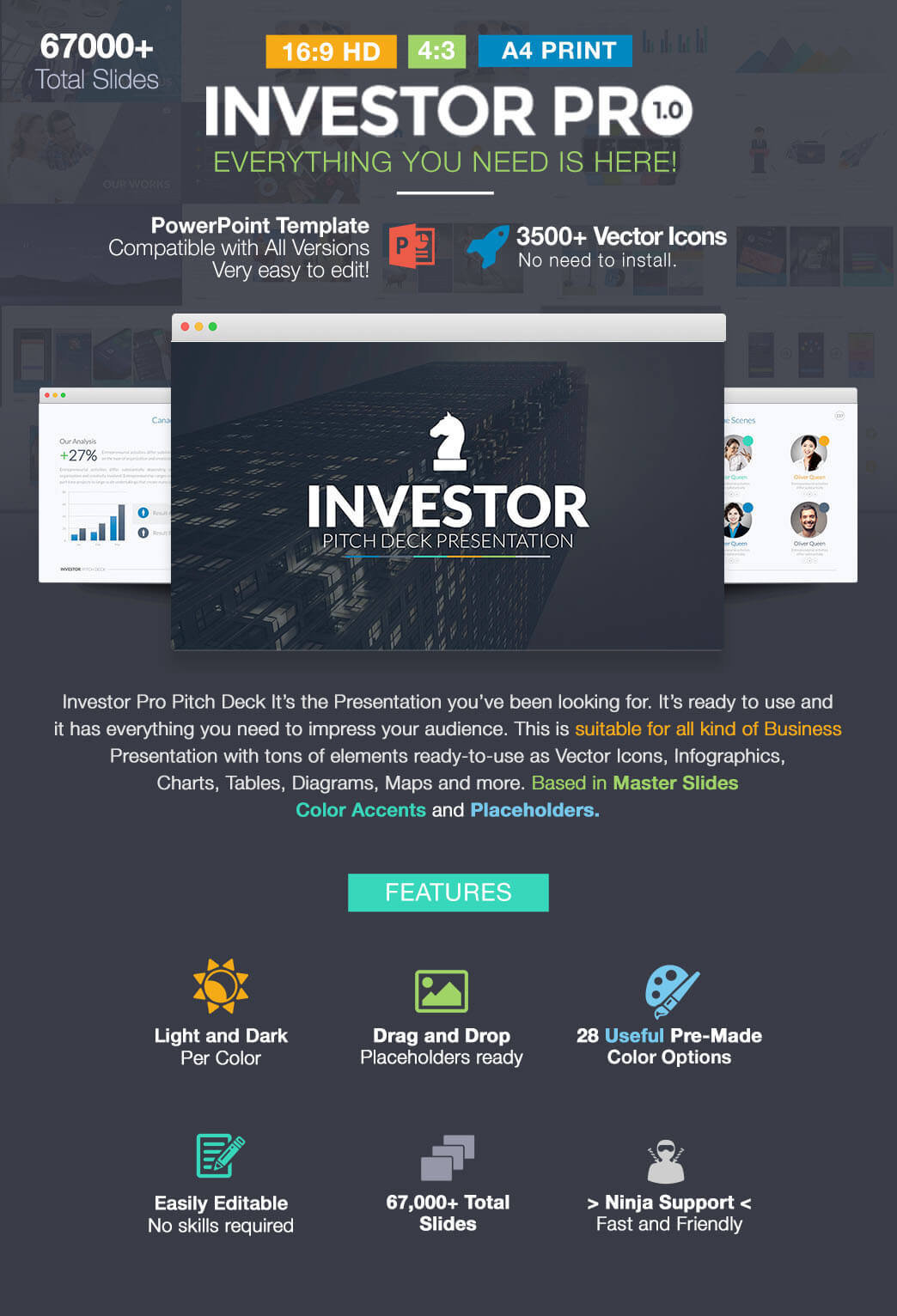 investor pitch deck - presentation powerpoint template pptx, Presentation templates