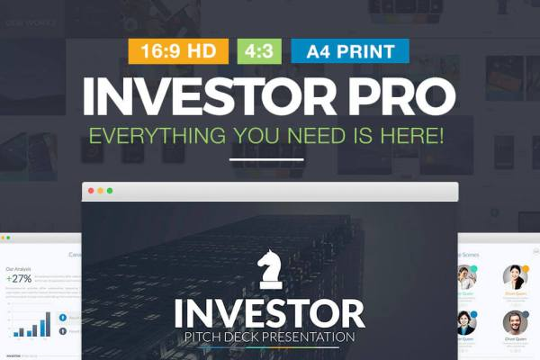 Investor Pro Pitch Deck PowerPoint Template - Social Media Keynote Templates - PowerPoint Presentation