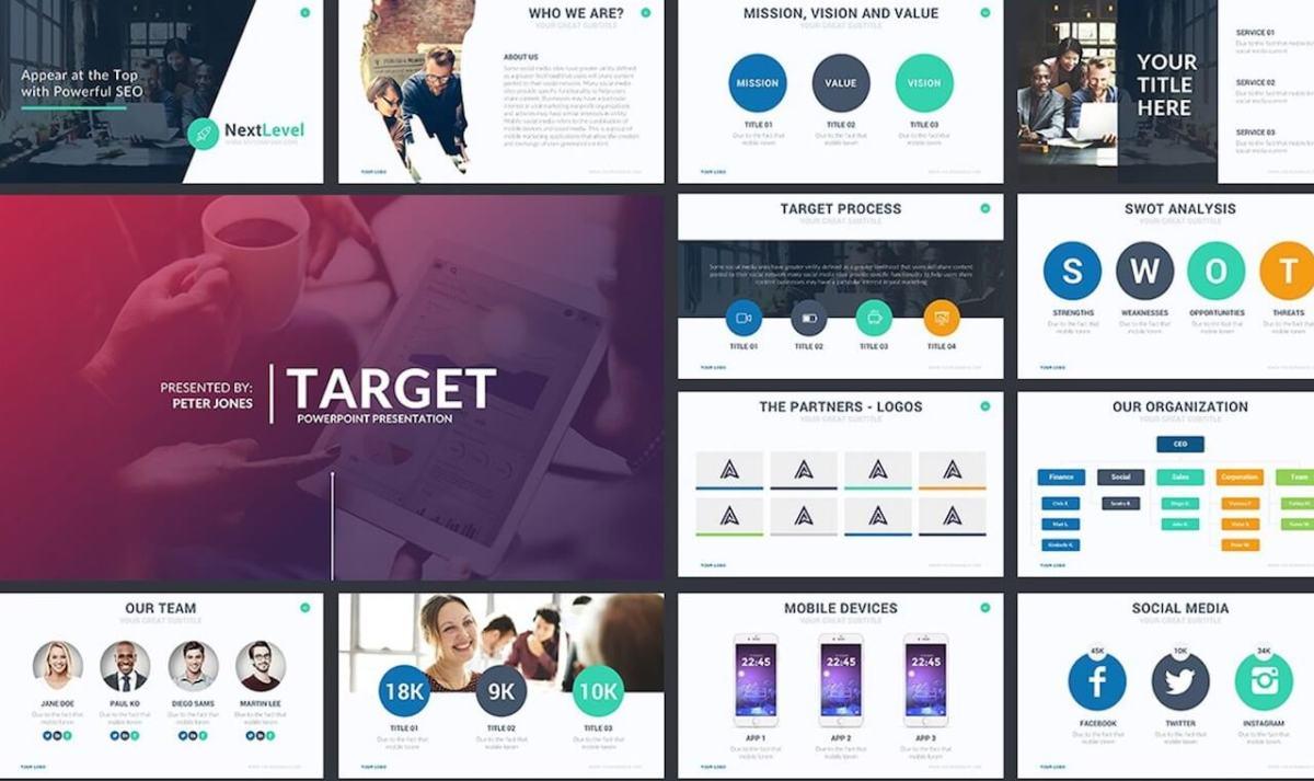 Target Powerpoint Template -min