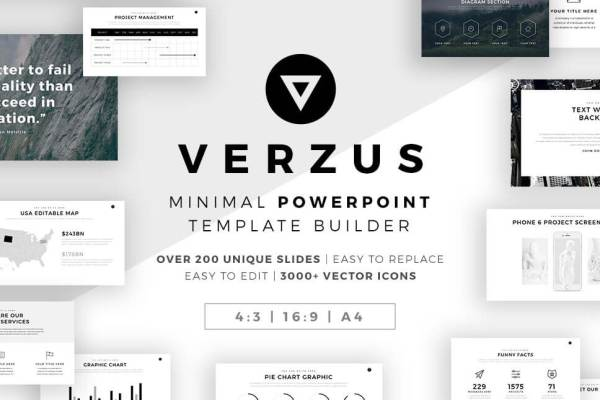Free business powerpoint templates professional and easy to edit verzus minimal powerpoint template toneelgroepblik