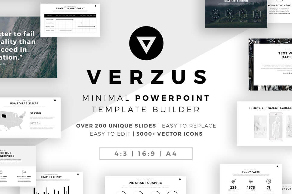 The 55 best free powerpoint templates of 2018 updated verzus minimal powerpoint template toneelgroepblik Image collections
