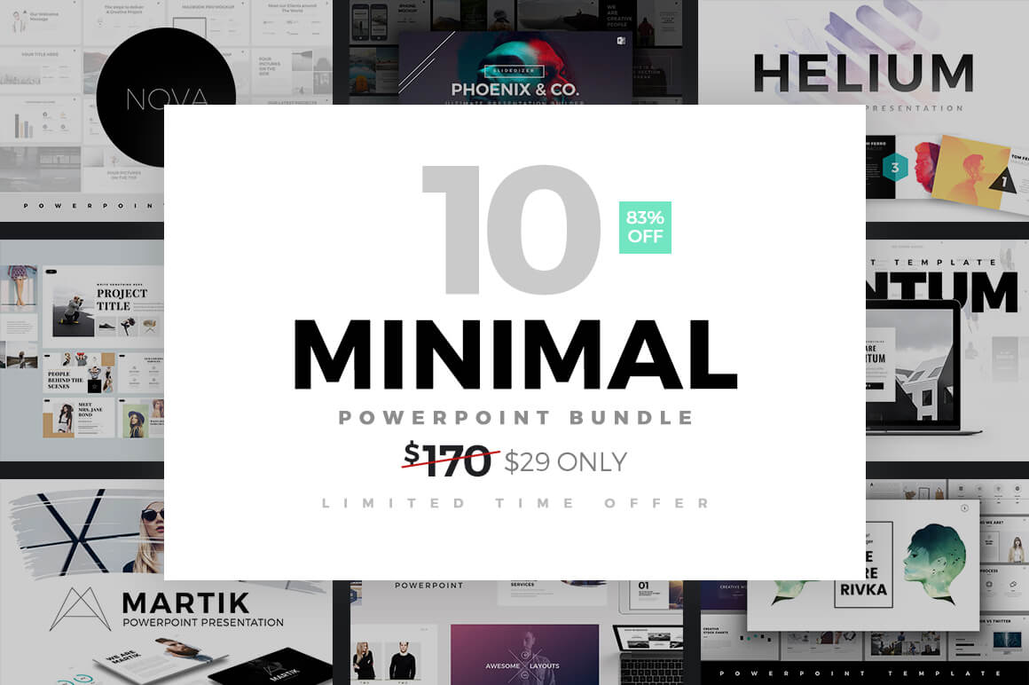 Minimal PowerPoint Templates Bundle -min