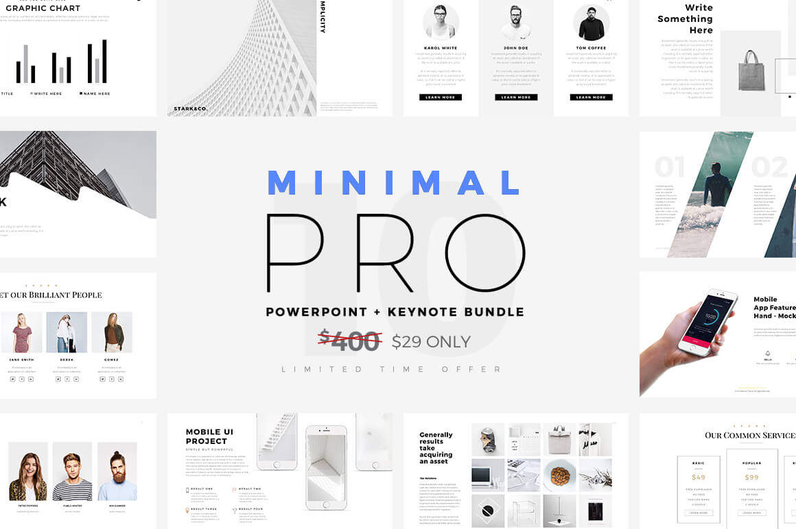 free minimal powerpoint template - create your ppt easy!, Modern powerpoint