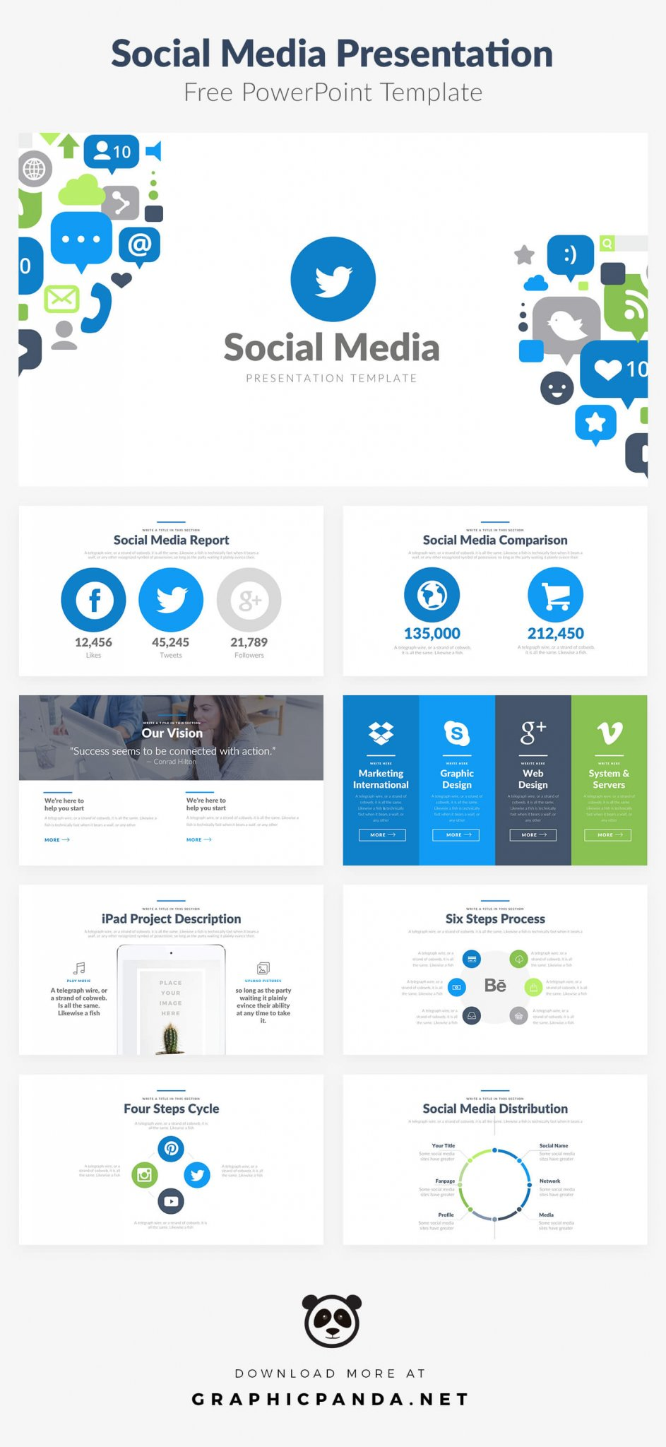 social media templates free - 10 free social media slides templates for microsoft powerpoint