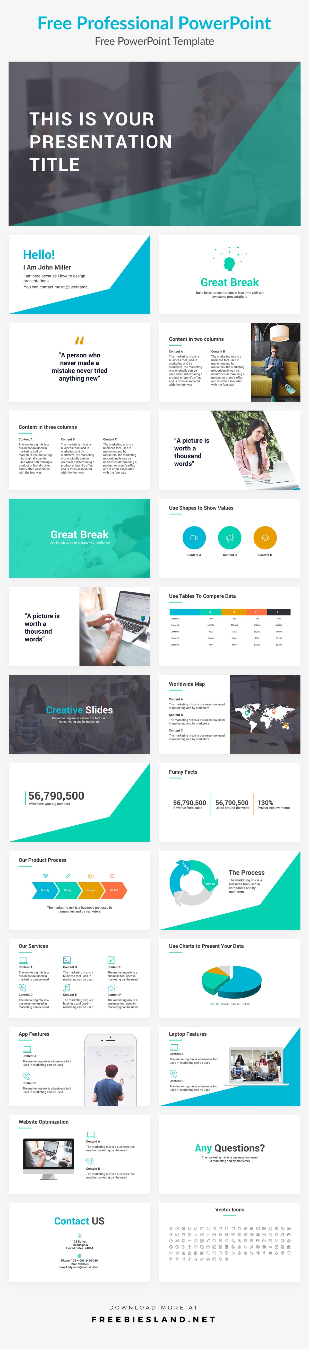 free professional powerpoint presentation template pptx, ppt, Presentation templates