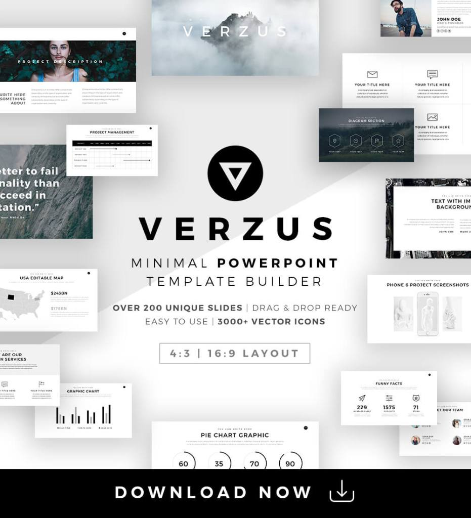 23 Free And Premium Trending Minimal PowerPoint Templates 2017