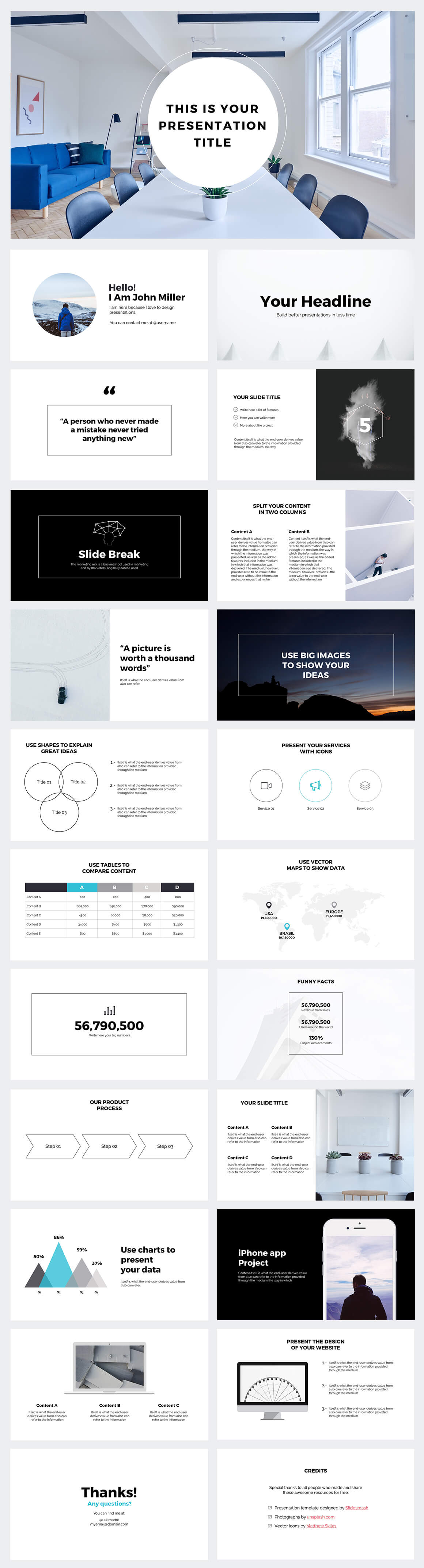 business strategy powerpoint template large-preview