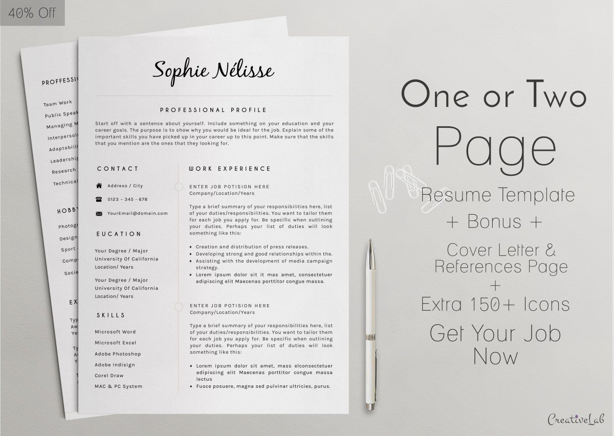 20 free and premium best resume templates