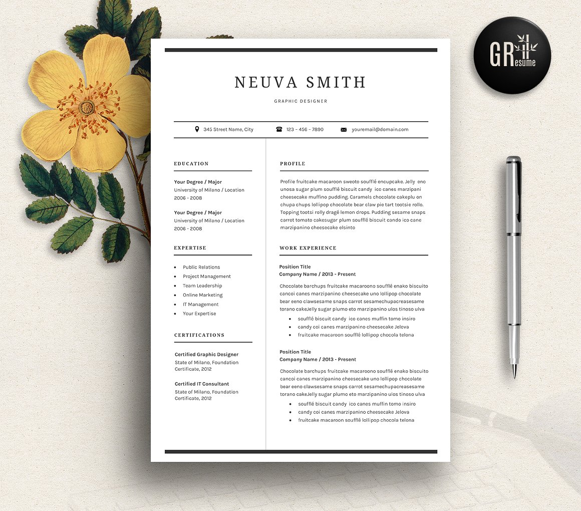 Free And Premium Best Resume Templates  Word Psd Indd