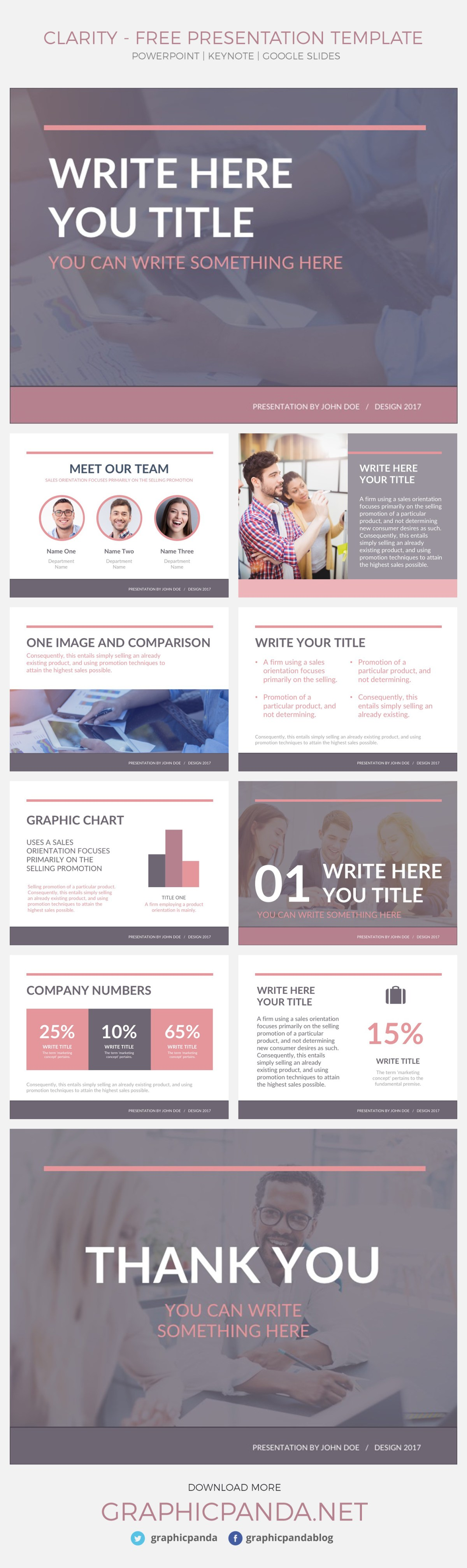 If you are looking for a presentation template that will be stylish but professional at the same time, Clarity Template is the one for you. Ranging from its fresh colors that brighten up the scene to the modern layouts, this presentation template will amuse your audience and maintain their focus on your data. Whether you are a student in school, who needs to present your data but do not want to bore your class. Or a business person who needs to show market sales, products or pitch deck investments, this is the template for you.