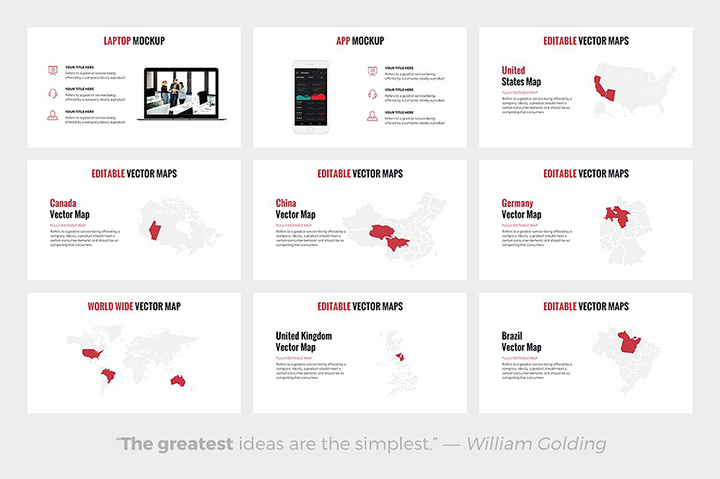 corpo business powerpoint template pitch deck pptx