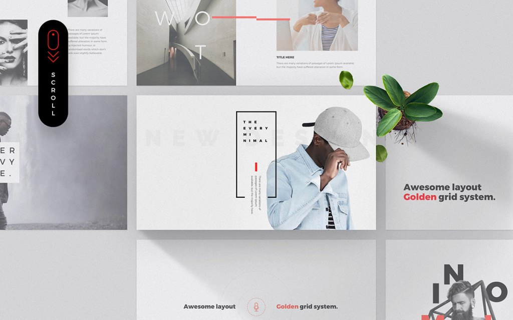 free minimalistic powerpoint template free powerpoint templates