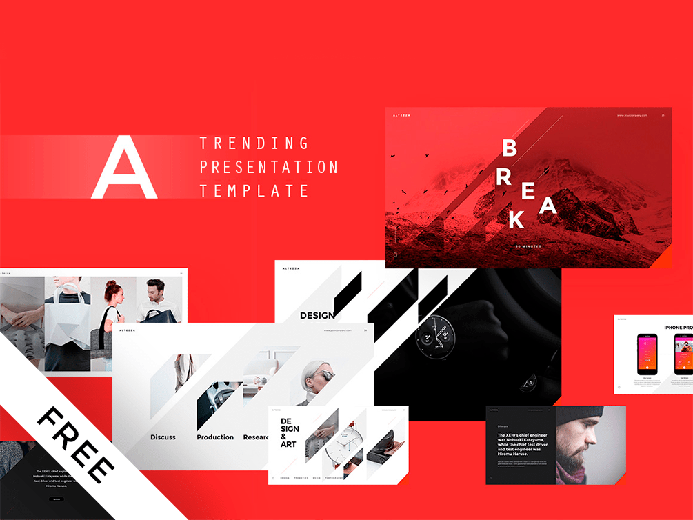 The 75 best free powerpoint templates of 2018 updated free minimal powerpoint template free powerpoint templates toneelgroepblik Gallery