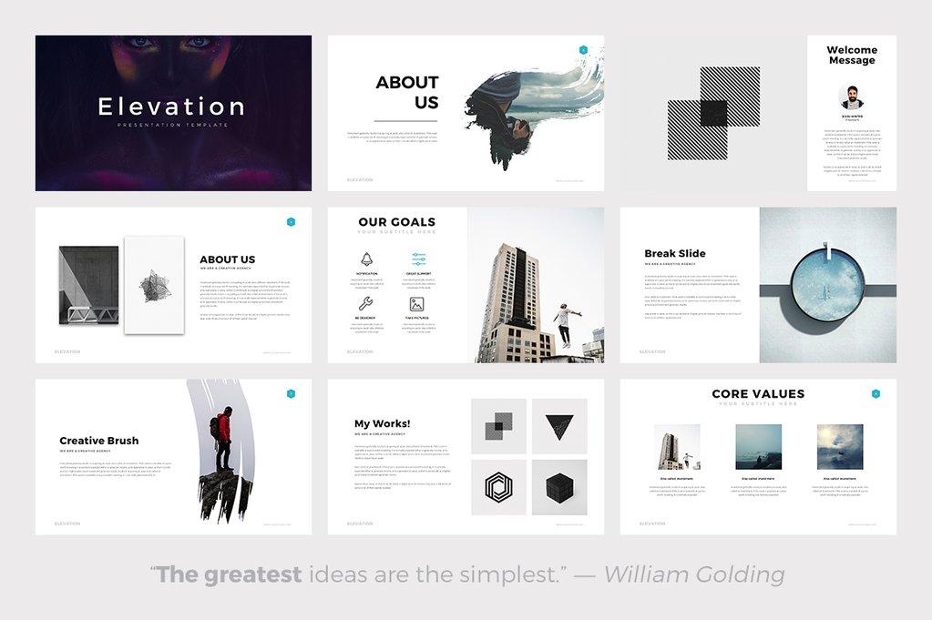 minimalist powerpoint template free 2 - elevation minimal powerpoint template keynote google slides