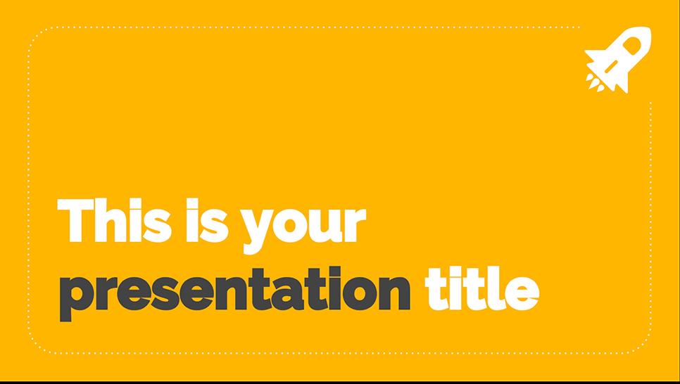 google presentation template