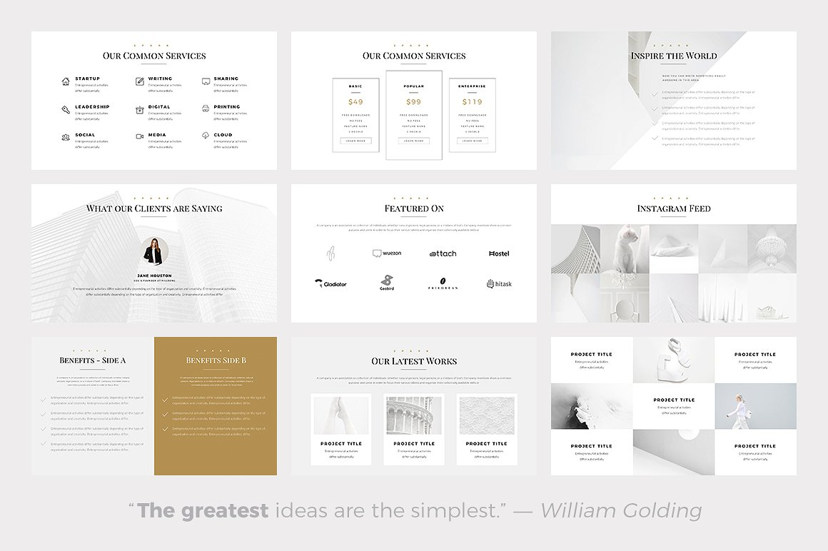 The 24 best minimalist powerpoint templates of 2018 best minimalist powerpoint template best minimal keynote themes best google slides themes toneelgroepblik Gallery