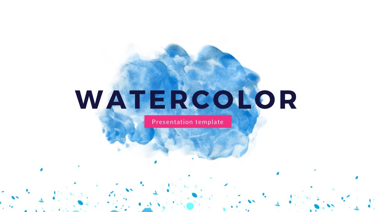 Get out of your artistic self with this watercolor Google Slides theme for any presentation using 25 creative slides. Includes watercolor images to give your slides a bright outstanding vibe since the font on the text is more of a calm minimal.